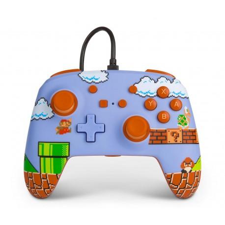 Control POWER A Switch Alámbrico Mario Azul